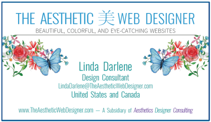The Aesthetic Web Designer Business Card
