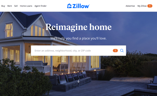 Zillow Website
